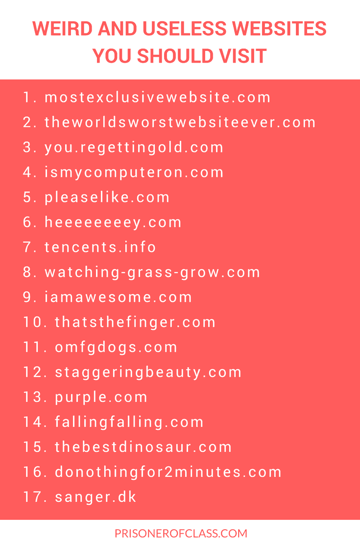 List of useless websites